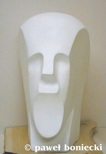Paweł Boniecki Męska głowa I porcelit 40cm